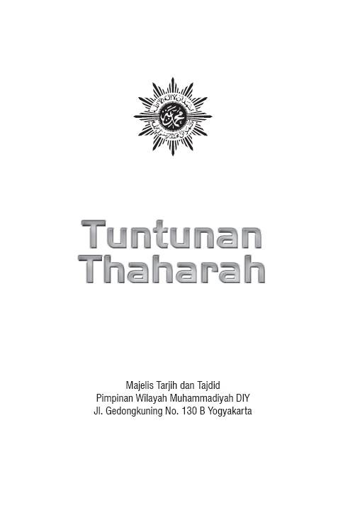 Photo of ebook Tuntunan Thaharah oleh Majelis Tarjih & Tajdid PWM DIY