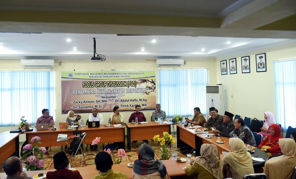 "Photo of Majelis Tarjih dan Tajdid PWM Bengkulu Gelar FGD ""Fenomena Nikah Siri di Bengkulu"""