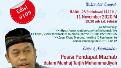 "Photo of Materi Pengajian Tarjih Edisi 109 ""Posisi Pendapat Mazhab dalam Manhaj Tarjih Muhammadiyah"""